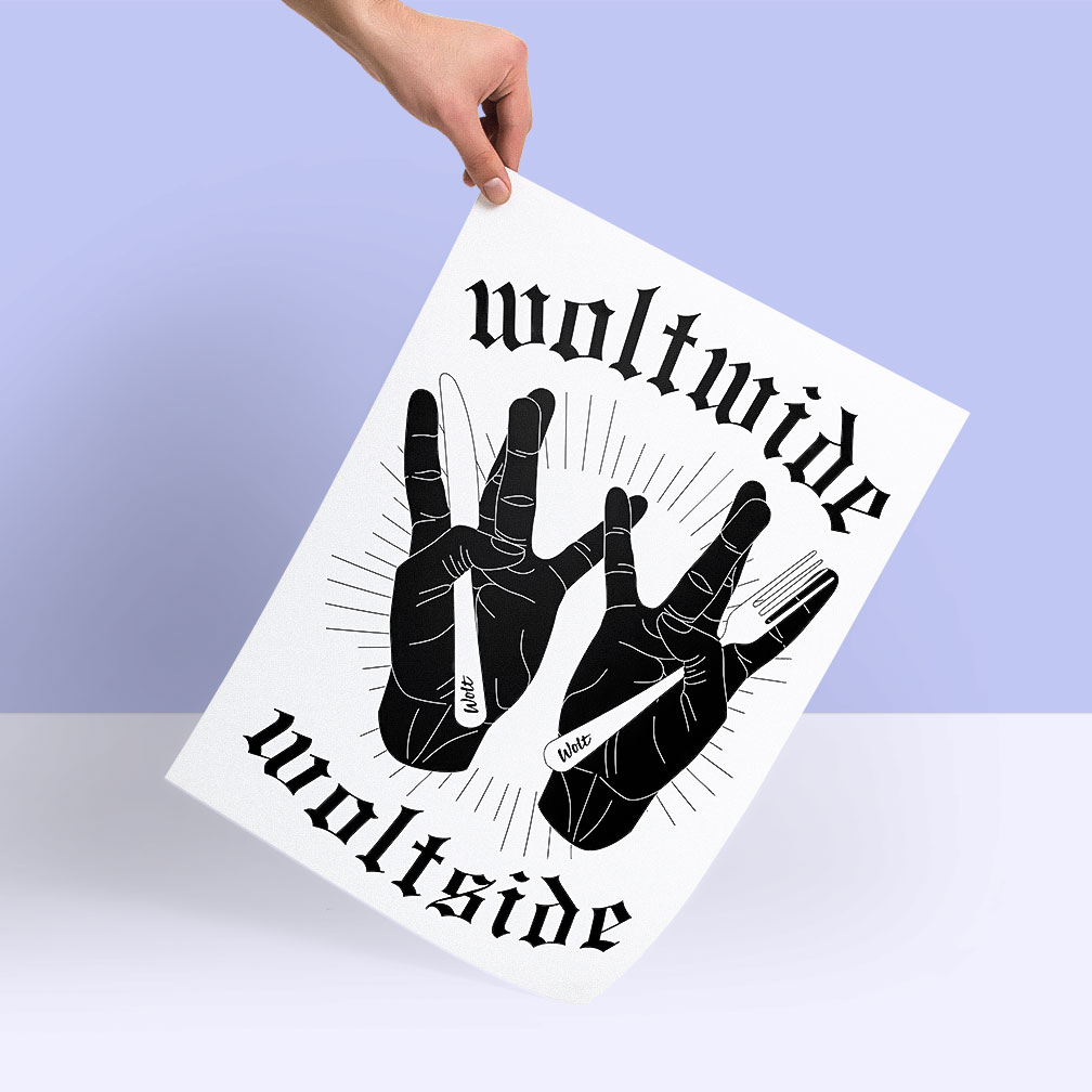 Woltwide / Woltside poster by Ville Kovanen.